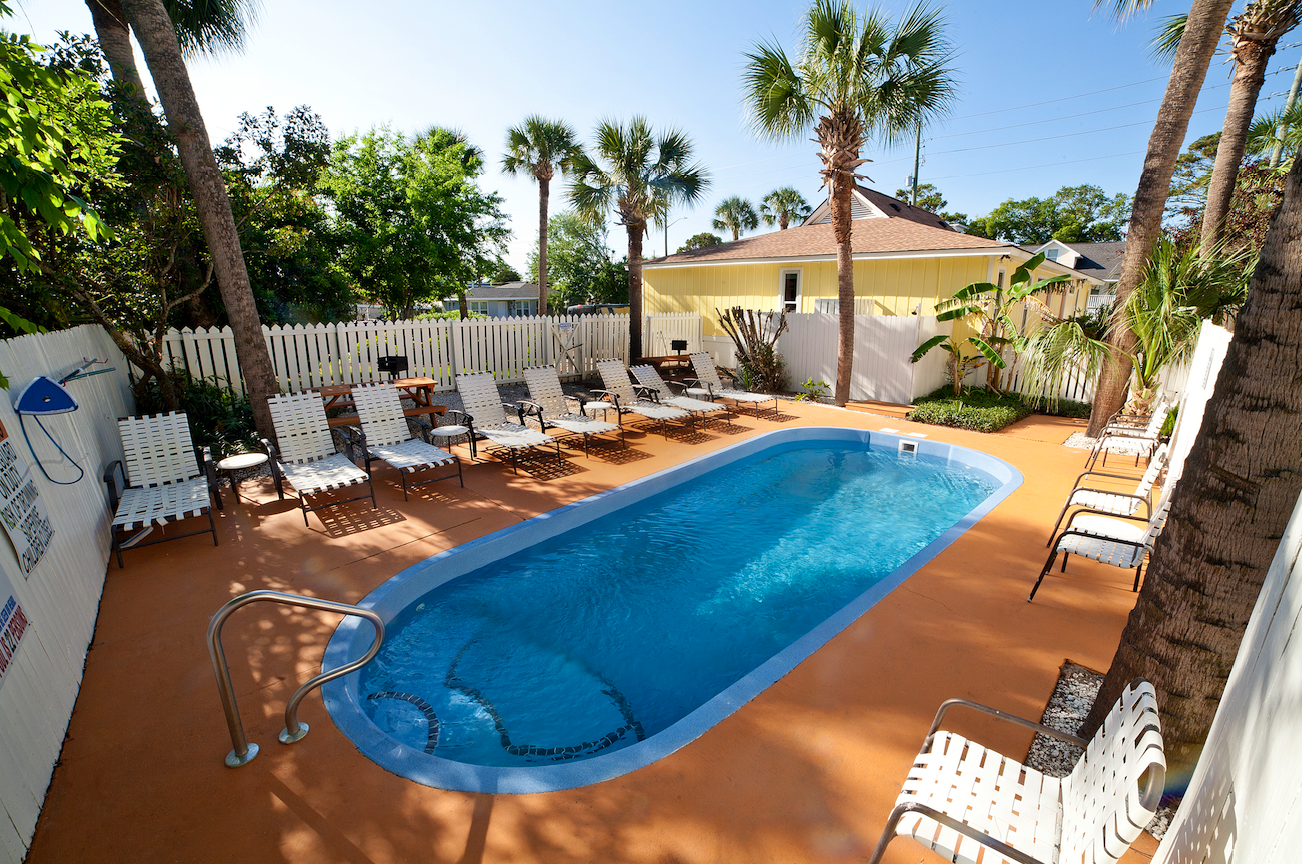 desoto beach bungalows pool